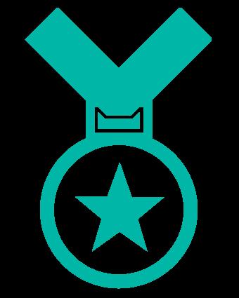 number-one-medal